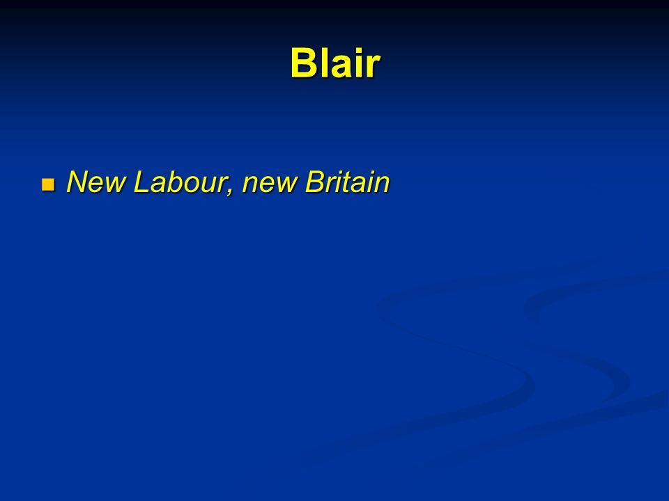 Blair New Labour, new Britain