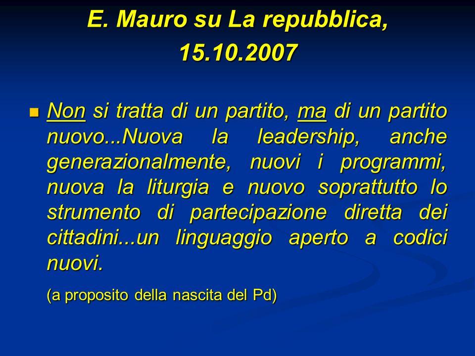 E. Mauro su La repubblica, 15.10.2007