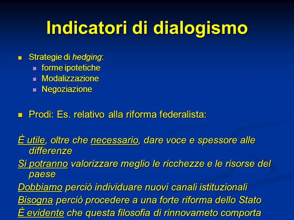 Indicatori di dialogismo