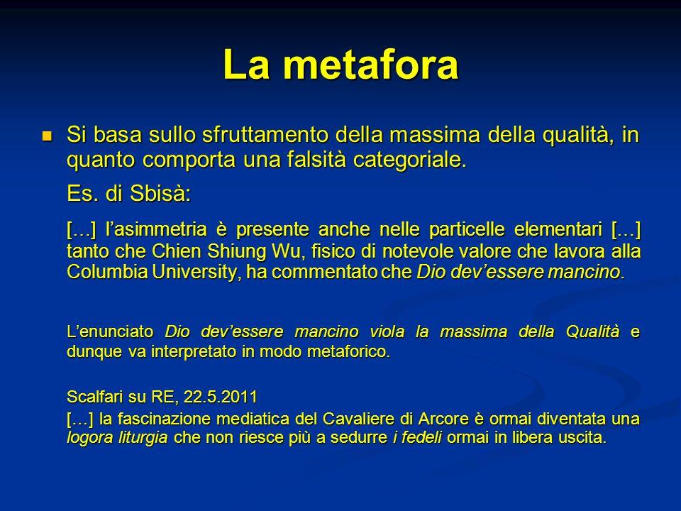 La metafora Es. di Sbisà: