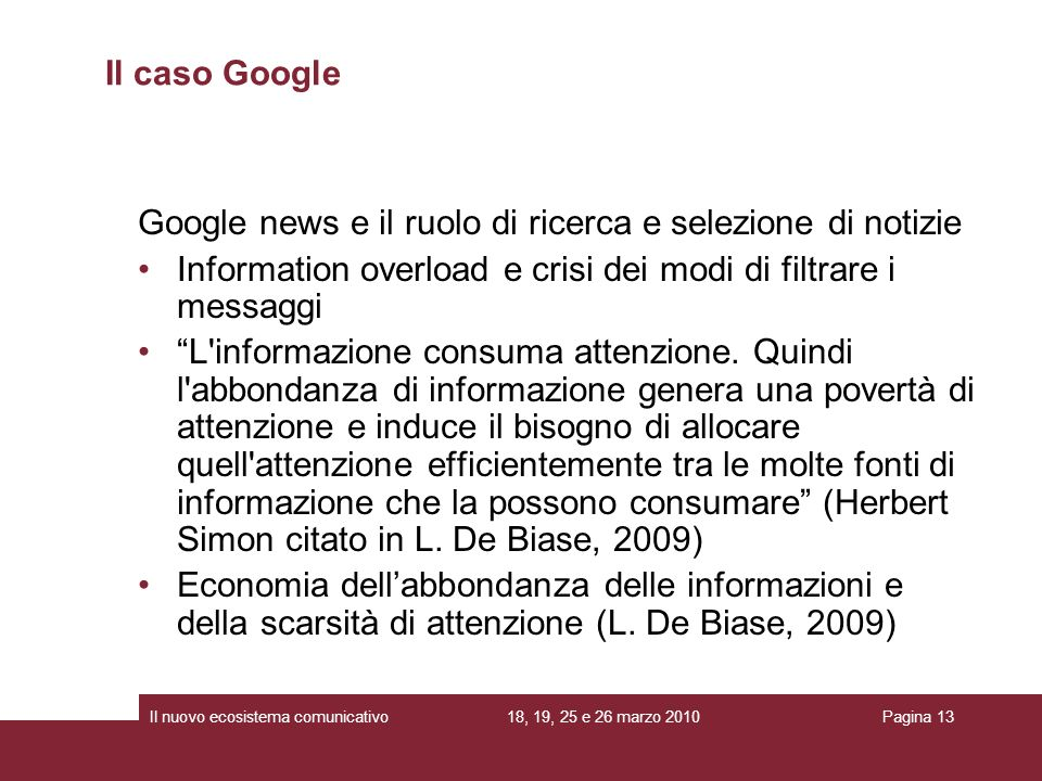 Google news e il ruolo di ricerca e selezione di notizie