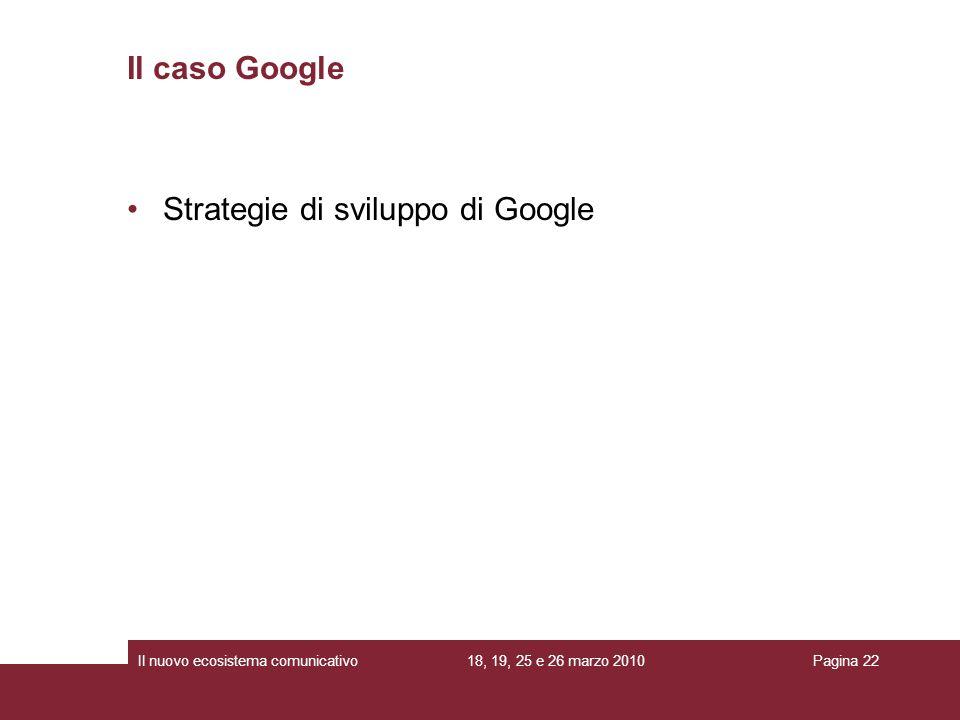 Strategie di sviluppo di Google