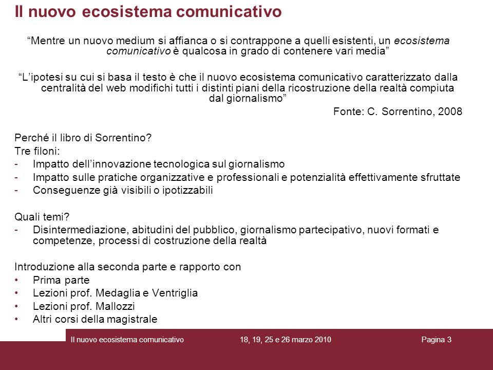Il nuovo ecosistema comunicativo