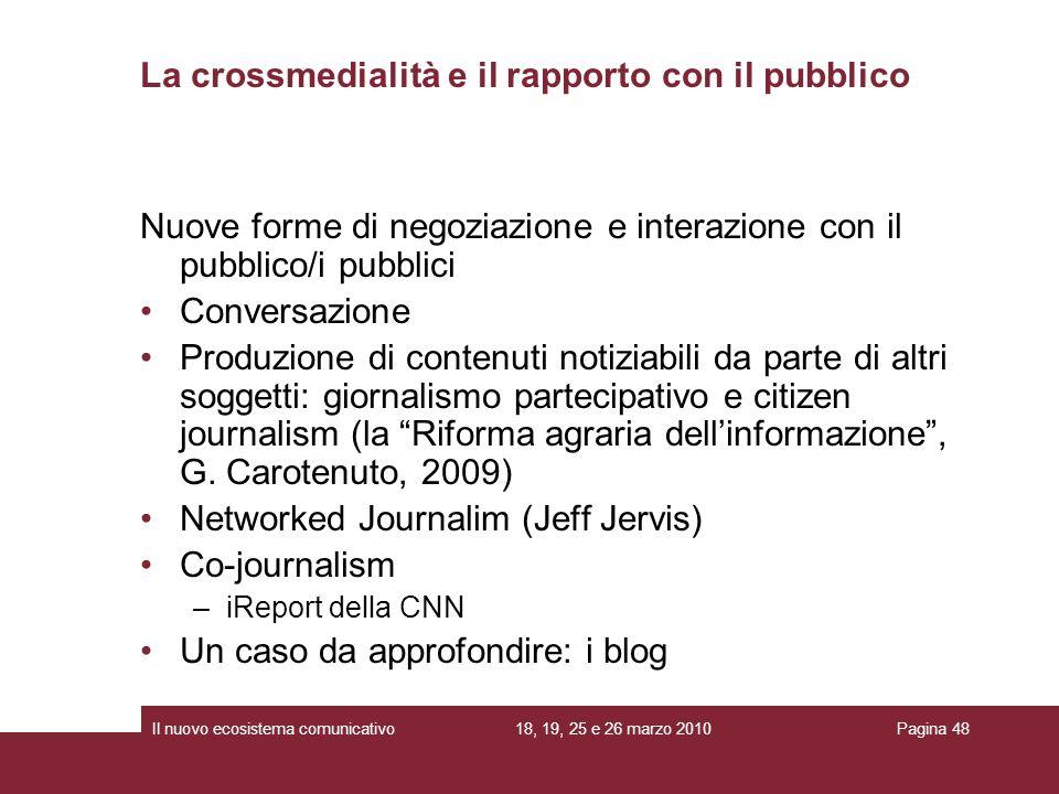 La crossmedialità e il rapporto con il pubblico