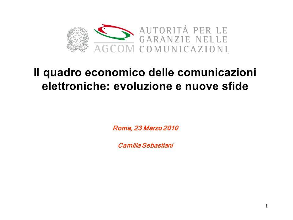 Il quadro economico delle comunicazioni elettroniche: evoluzione e nuove sfide