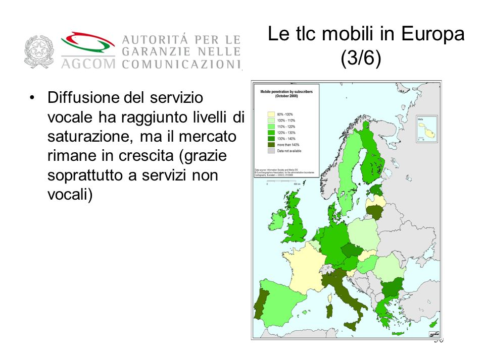 Le tlc mobili in Europa (3/6)