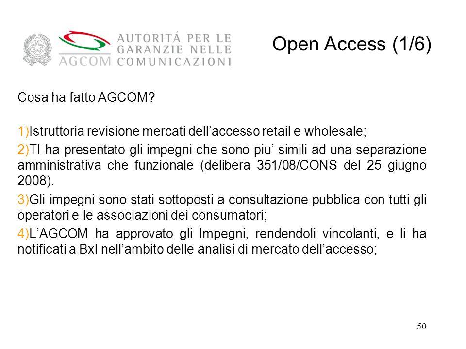 Open Access (1/6) Cosa ha fatto AGCOM