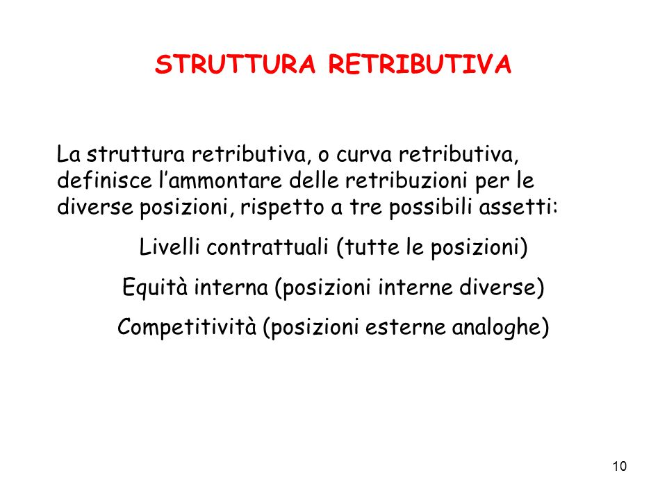 STRUTTURA RETRIBUTIVA