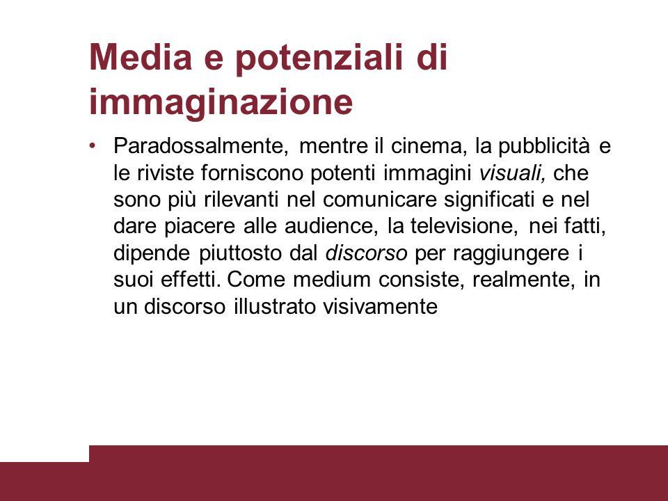 Media e potenziali di immaginazione