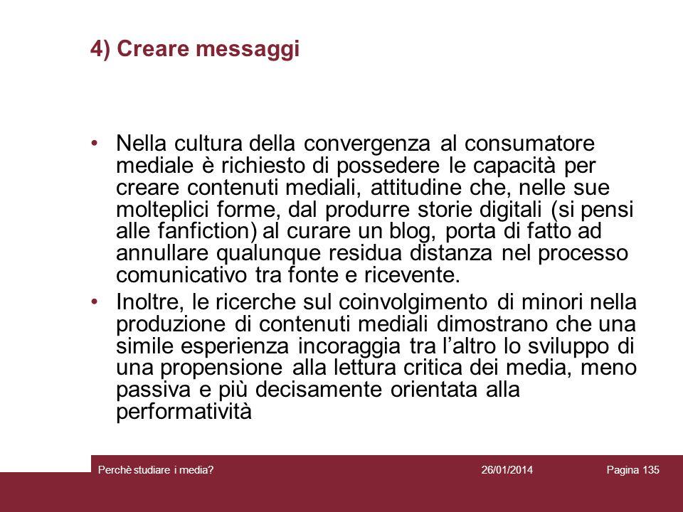 4) Creare messaggi