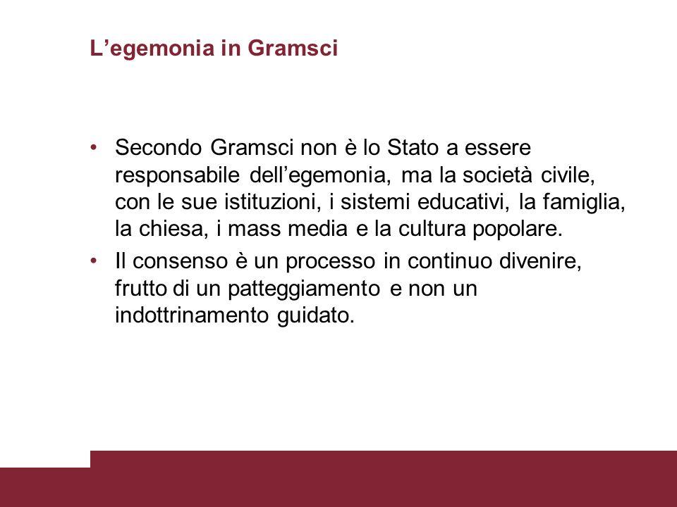 L'egemonia in Gramsci