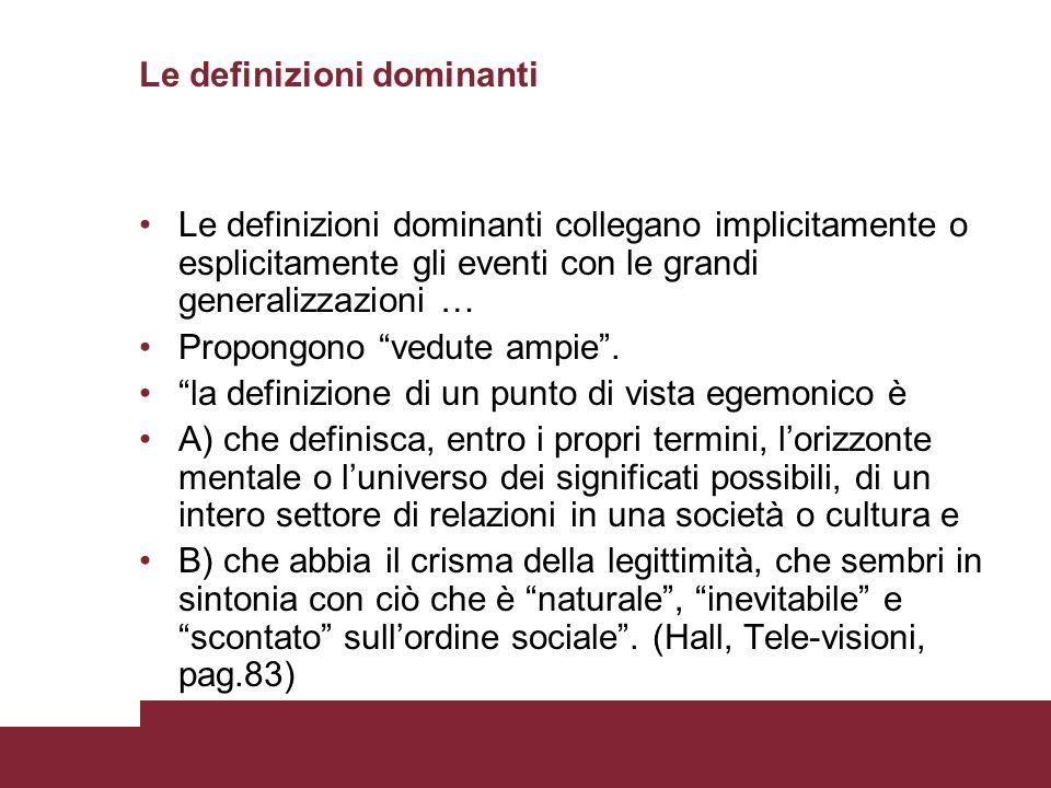 Le definizioni dominanti