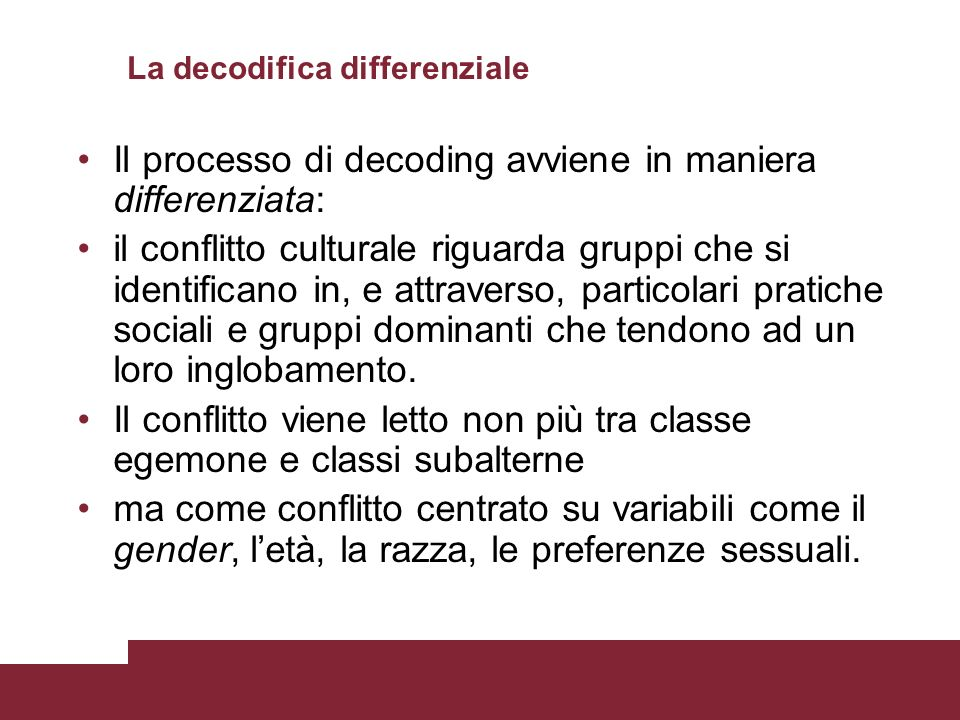 La decodifica differenziale