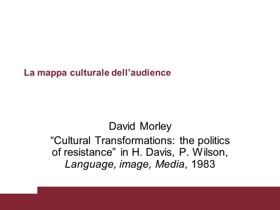 La mappa culturale dell'audience