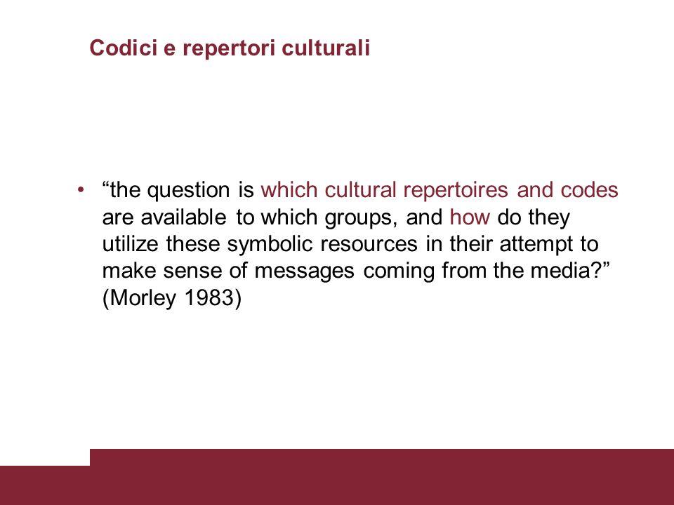 Codici e repertori culturali