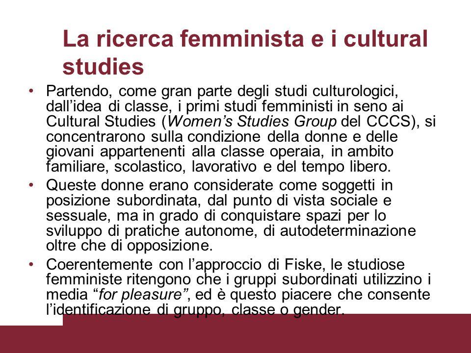 La ricerca femminista e i cultural studies