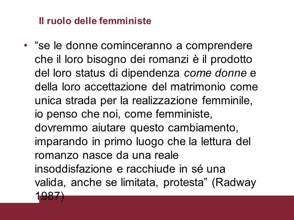 Il ruolo delle femministe