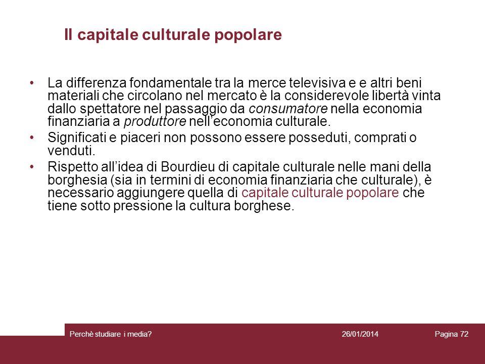 Il capitale culturale popolare