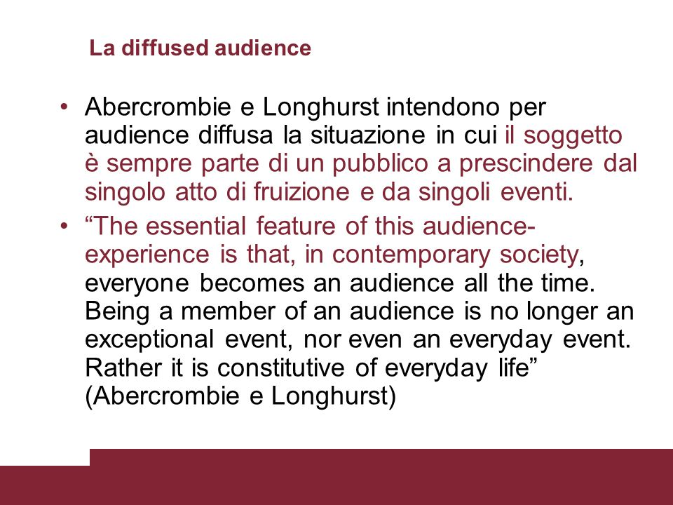 La diffused audience