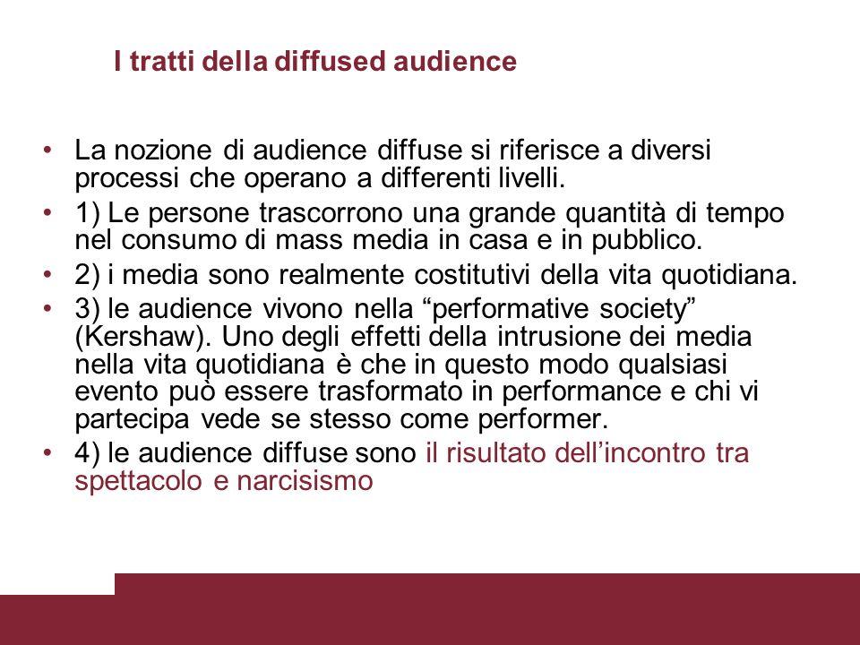 I tratti della diffused audience
