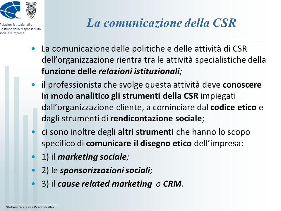La comunicazione della CSR