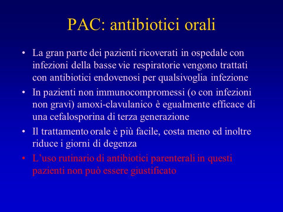 PAC: antibiotici orali