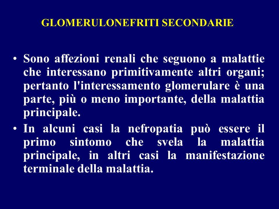 GLOMERULONEFRITI SECONDARIE