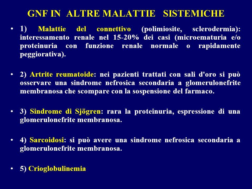 GNF IN ALTRE MALATTIE SISTEMICHE