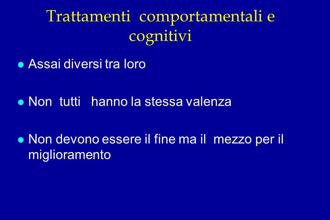 Trattamenti comportamentali e cognitivi