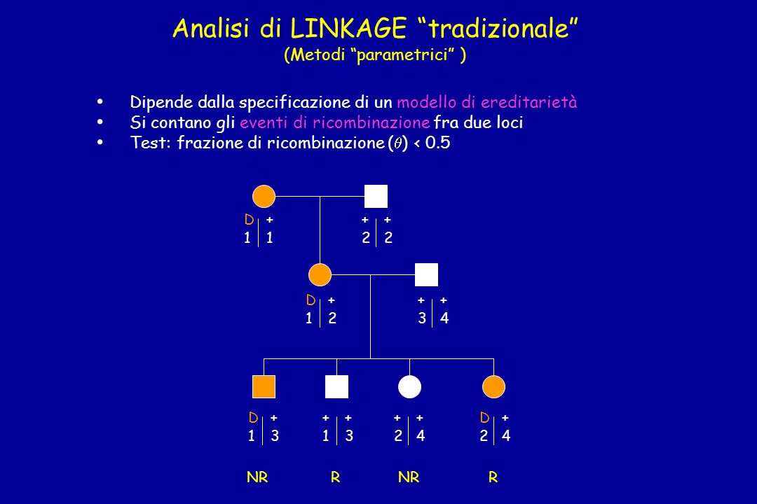Analisi di LINKAGE tradizionale (Metodi parametrici )