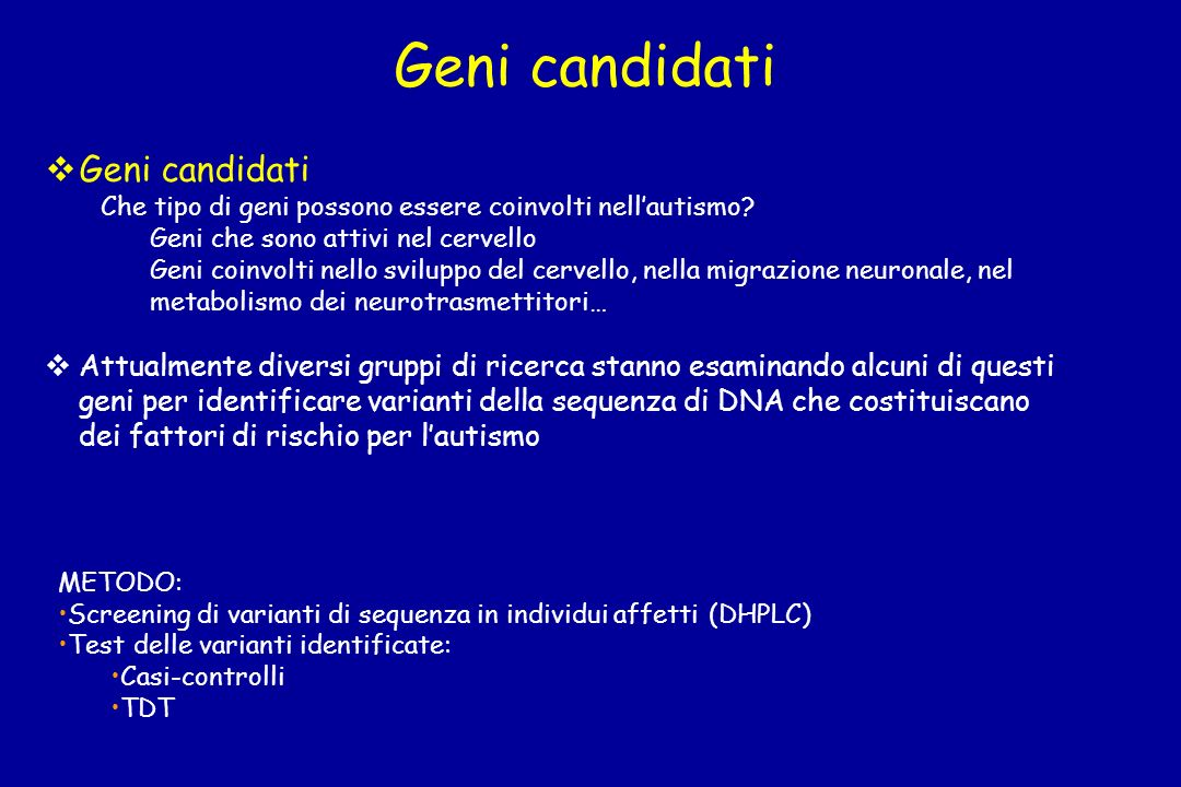 Geni candidati Geni candidati