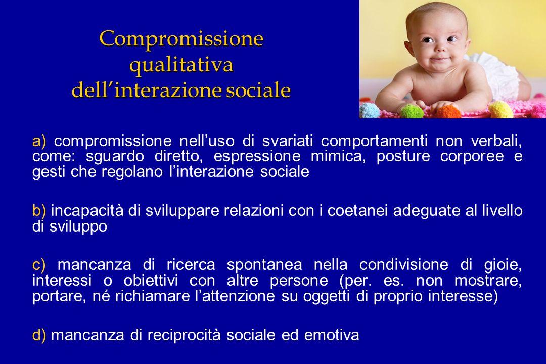 Compromissione qualitativa dell'interazione sociale
