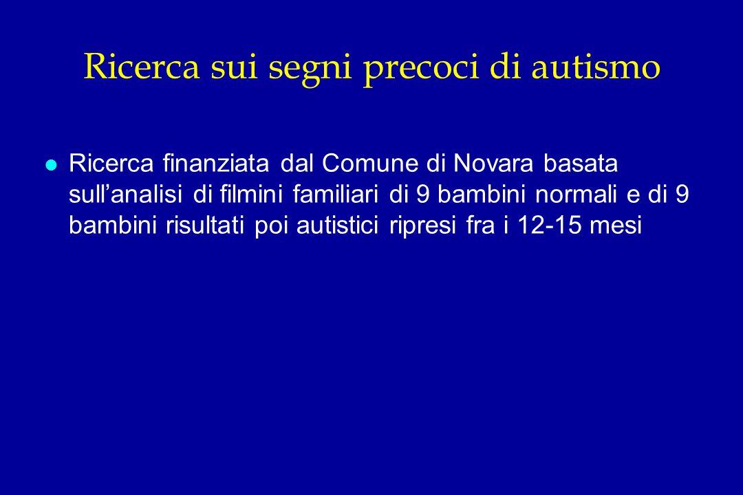 Ricerca sui segni precoci di autismo