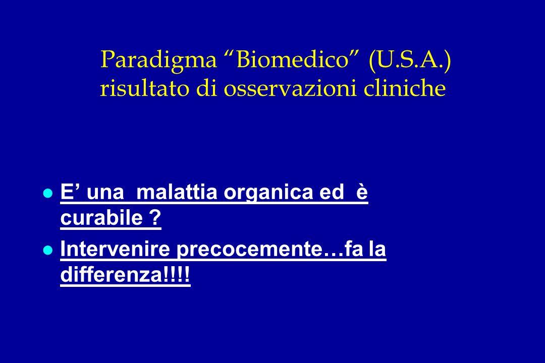 Paradigma Biomedico (U.S.A.) risultato di osservazioni cliniche