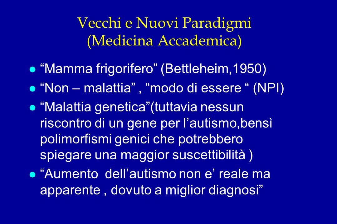 Vecchi e Nuovi Paradigmi (Medicina Accademica)