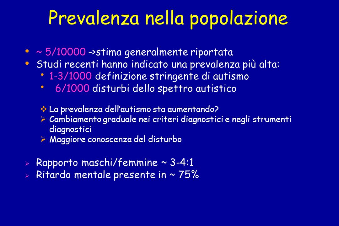 Prevalenza nella popolazione