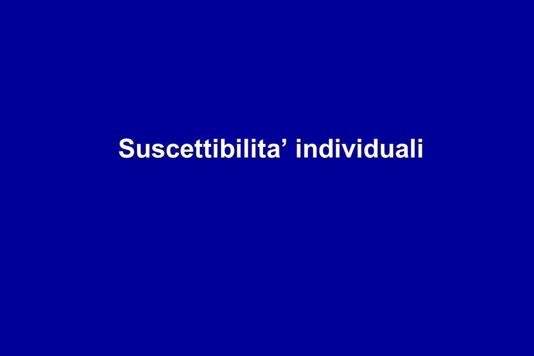 Suscettibilita' individuali