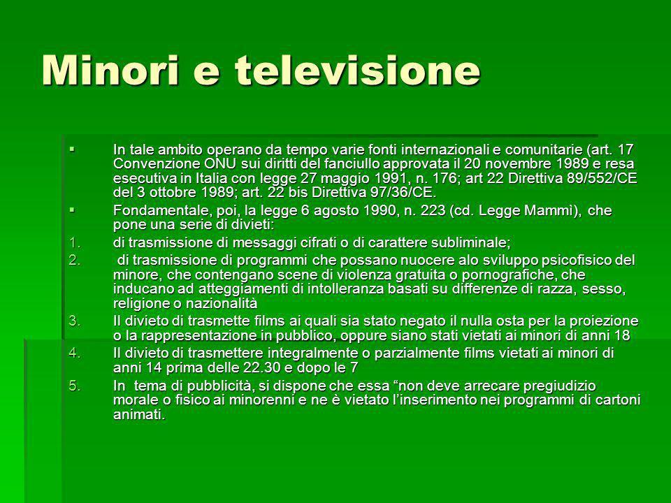 Minori e televisione