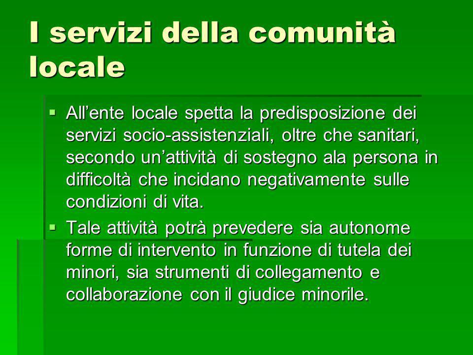 I servizi della comunità locale