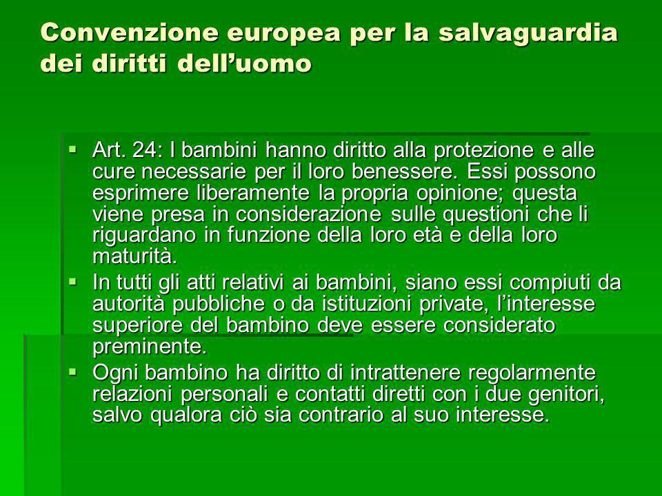 Convenzione europea per la salvaguardia dei diritti dell'uomo