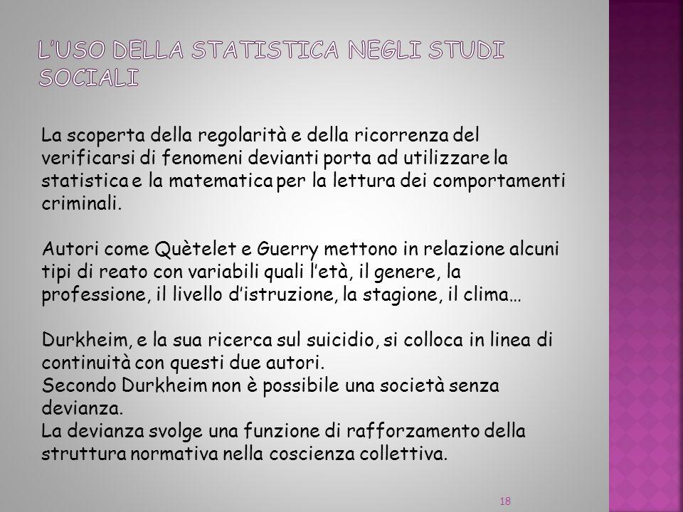 L'USO DELLA STATISTICA NEGLI STUDI SOCIALI