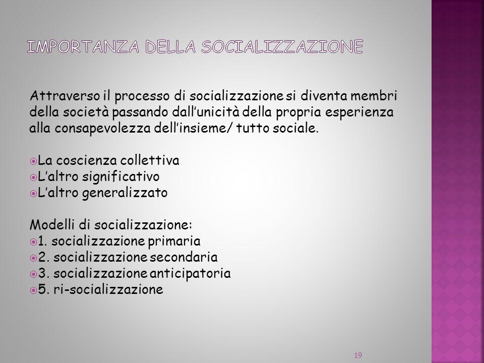 Importanza della socializzazione