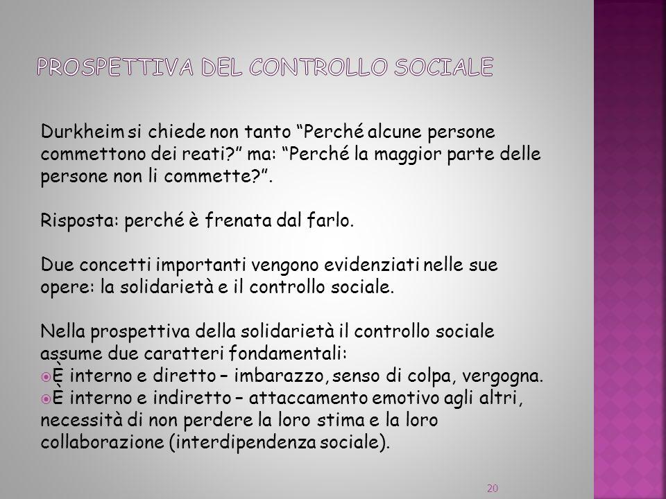 prospettiva del controllo sociale
