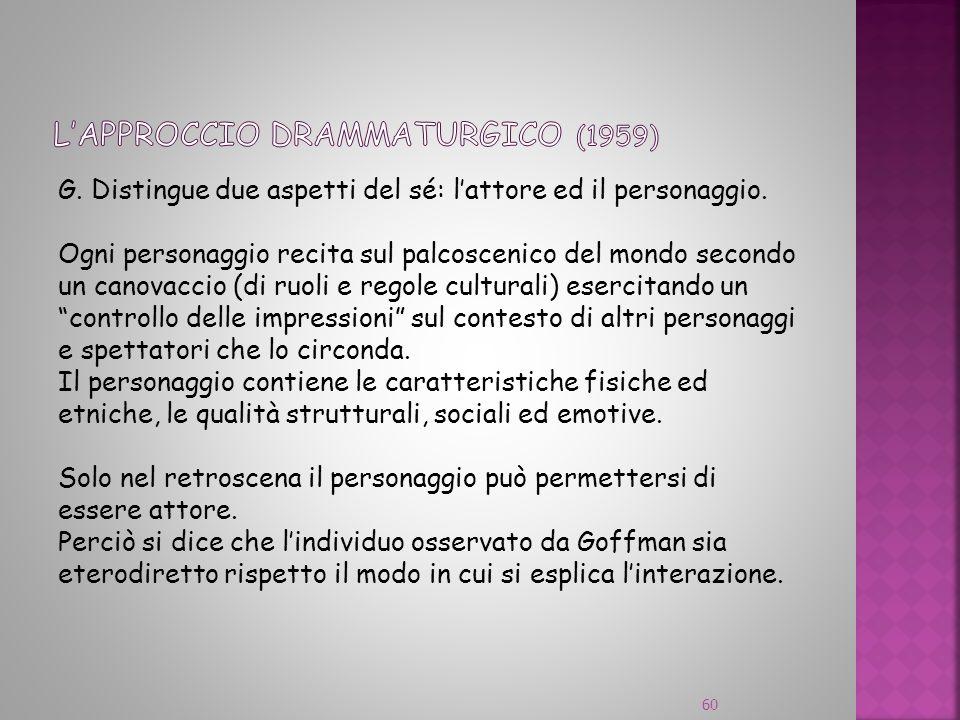 L'approccio drammaturgico (1959)