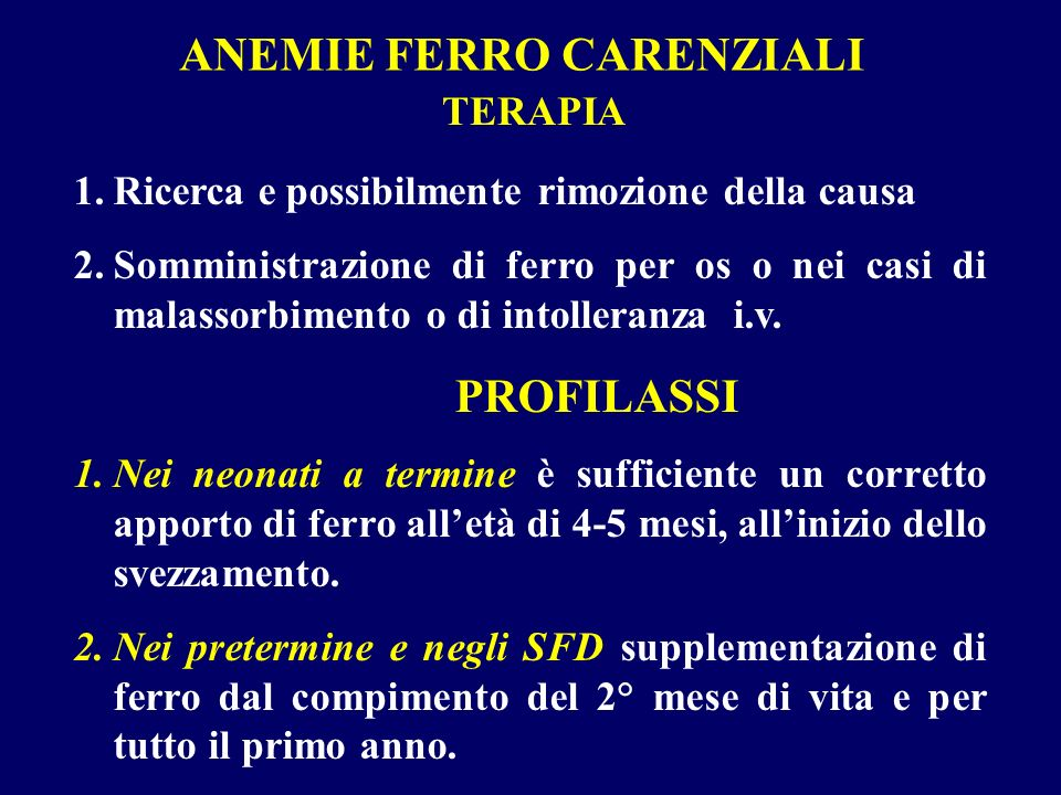 ANEMIE FERRO CARENZIALI