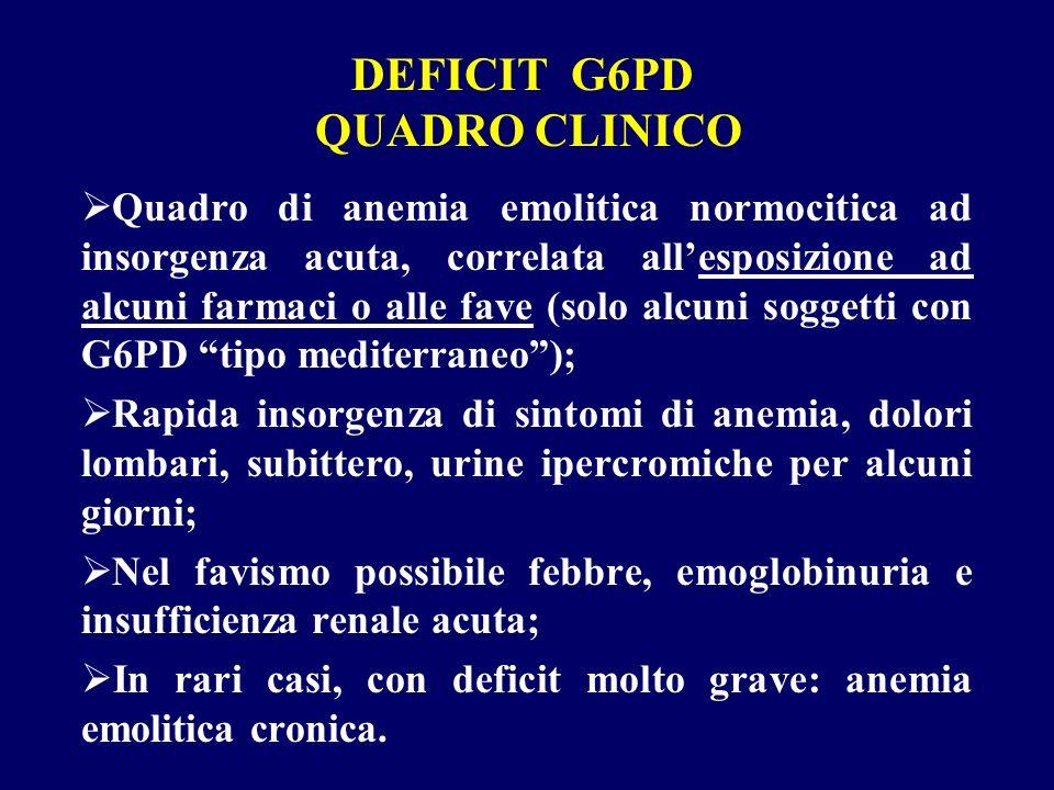 DEFICIT G6PD QUADRO CLINICO