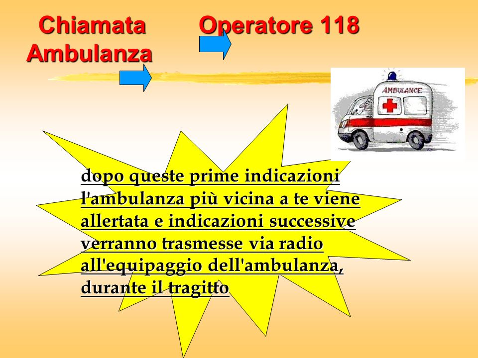 Chiamata Operatore 118 Ambulanza
