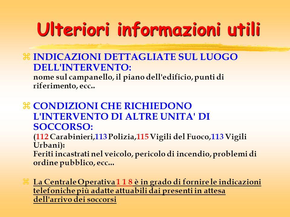 Ulteriori informazioni utili