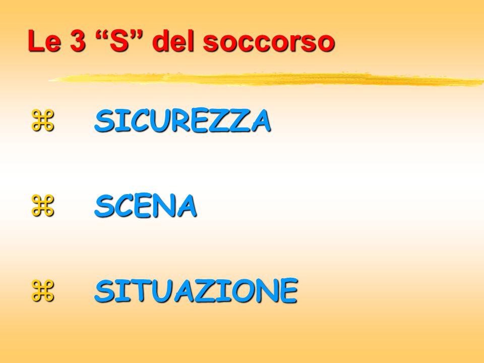Le 3 S del soccorso SICUREZZA SCENA SITUAZIONE