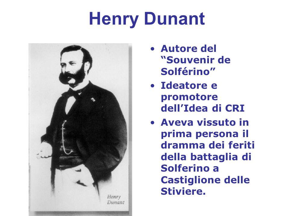 Henry Dunant Autore del Souvenir de Solférino